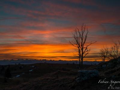 Un lever de soleil au Creux-du-Van