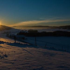 Soleil couchant sur la Vallée